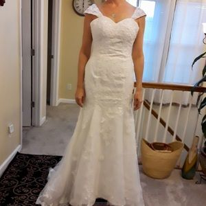 Unaltered wedding gown